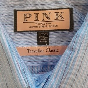 Thomas Pink Shirts - PINK Traveller Classic oxford